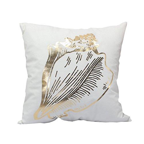 Vi.yo Funda de cojín decorativa, diseño de patrón dorado ...