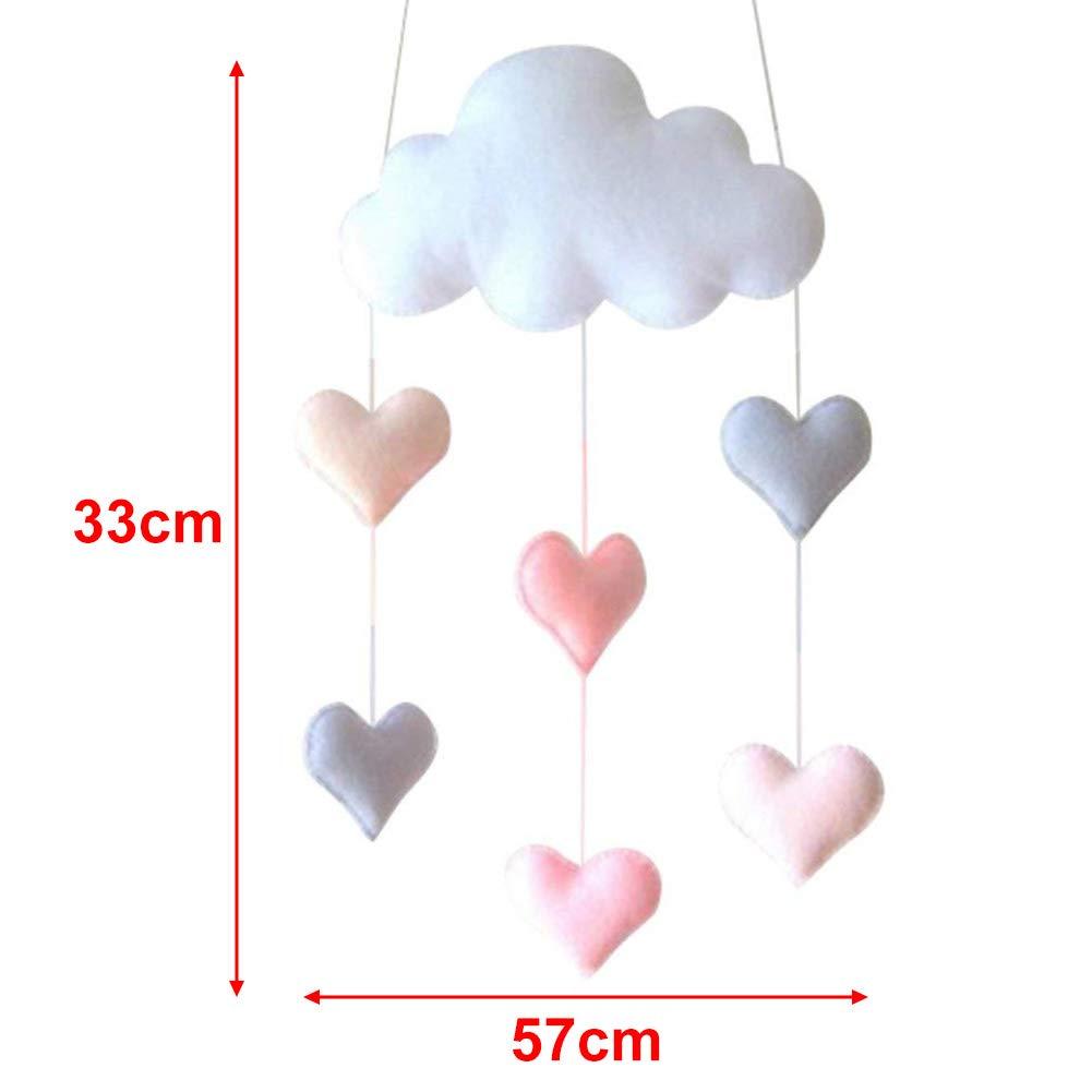 Colgante de nube de techo DIY nube gotas de lluvia colgante decoraci/ón estrellas guirnalda para cuarto de beb/é Baby Shower