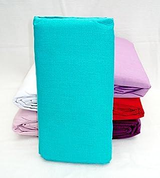 clairenuit linge de lit Claire Nuit   Drap housse 180x200cm TURQUOISE 100% Coton 57fils  clairenuit linge de lit