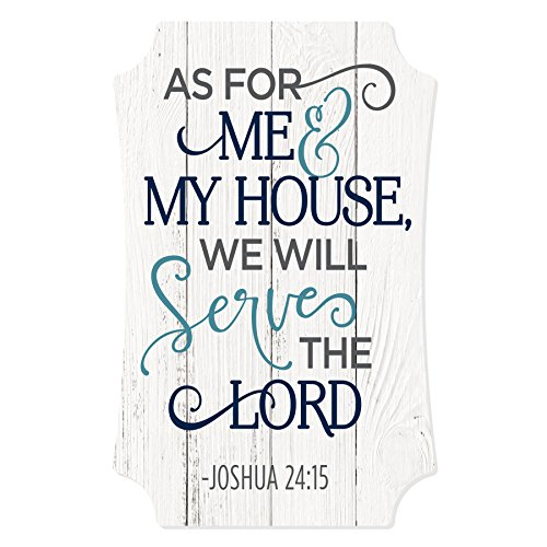 MRC Wood Products As for Me and My House We Will Serve The Lord Distressed Sign 12x8 from MRC Wood Products
