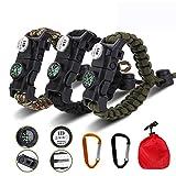 Best Survival Bracelets - Meetrip 20 in 1 Adjustable Paracord Survival Bracelet Review