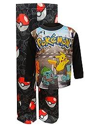 Pokemon And Friends Black Pajamas for boys