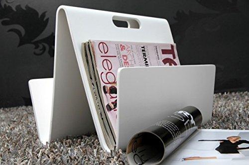DuNord Design revistero Wave Blanco Diseño Estiloso accessoir estante