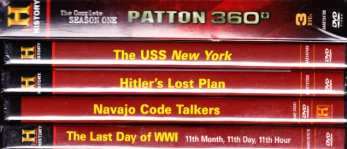 The History Channel Military Library Collection : Patton 360 Complete Season One , the Hero Ships USS New York , Navajo Code Talkers , the Last Day of WWI , Hitler's Lost Plan : 7 Disc Set