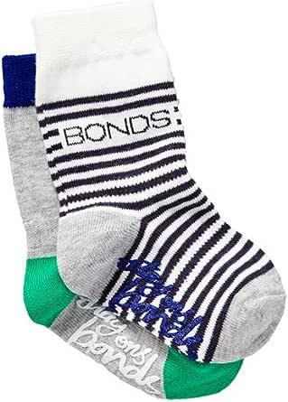Bonds Baby Stay-on Crew Socks (2 Pack)