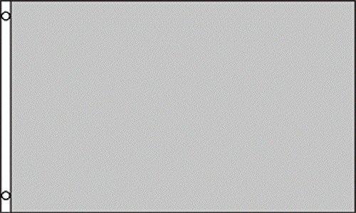 Plain Grey Gray Flag - 5'x3'