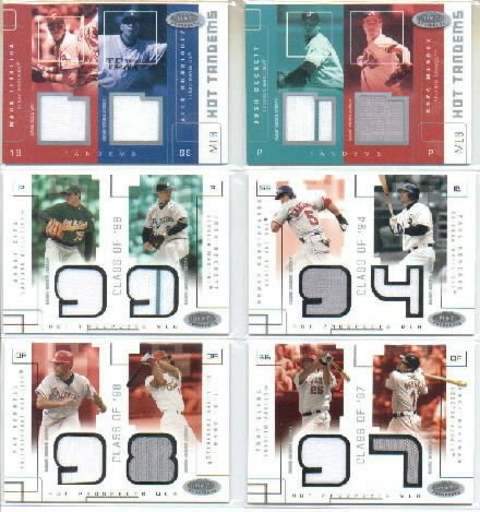 2003 Hot Prospects Class Of Game Used #NGPK Nomar Garciaparra Paul Konerko Game-Worn Jersey Card Serial #'d/375