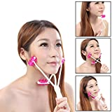 2 In 1 Face Roller Massager for Face Tightening and Lifting, 3D Roller Face Massager Double Chin Remover, Face Slimming Massager Neckline Slimmer Jaw Exerciser Facial Lift Roller Body Massager Tool