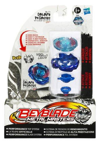 Bey Blade 31944 BB 70 - Metal Masters Standard, Pegasus - W105R2F, Sistema di trottole ad alta prestazione
