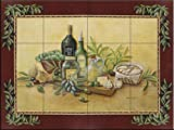 kitchen tile ideas Ceramic Tile Mural - Tuscan Bounty with Border- by Rita Broughton - Kitchen backsplash / Bathroom shower