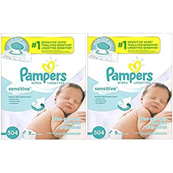 Amazon Com Pampers Sensitive Water Based Baby Diaper