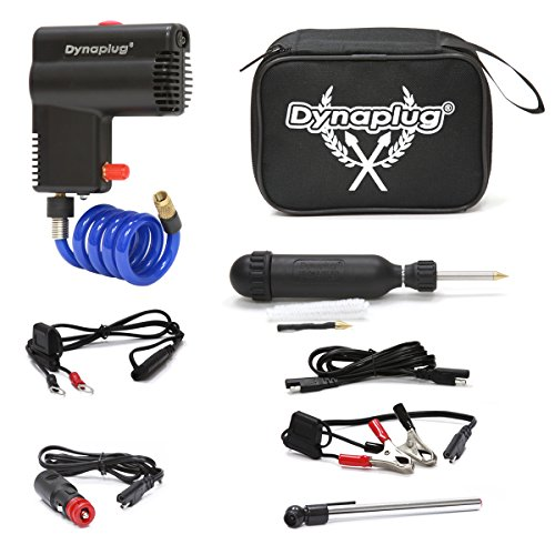 Dynaplug Motorcycle 12 volt Tire Inflator with BONUS Dynaplug Carbon Ultralite Repair Tool