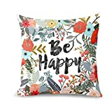 Hot Sale!!! Lovers Pillow Case,Valentine's Day Be Happy Surrounded With Flowers And Plants Personalized Sofa Pillow Cover