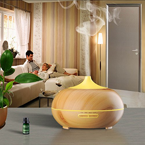 -[ KINGA Aroma Diffuser 300ML Essential oil Diffuser Electric Ultrasonic Humidifier Aromatherapy Co