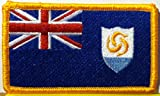 Anguilla Flag Embroidery Iron-on Patch Emblem Gold Border
