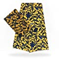 Chiffon Fabric | 2Yards Chiffon with 4 Yards Silk Black and White Ankara Fabric African Prints Silk Satin Fabric Wedding Dress Fabric Macthing | by BINOCA