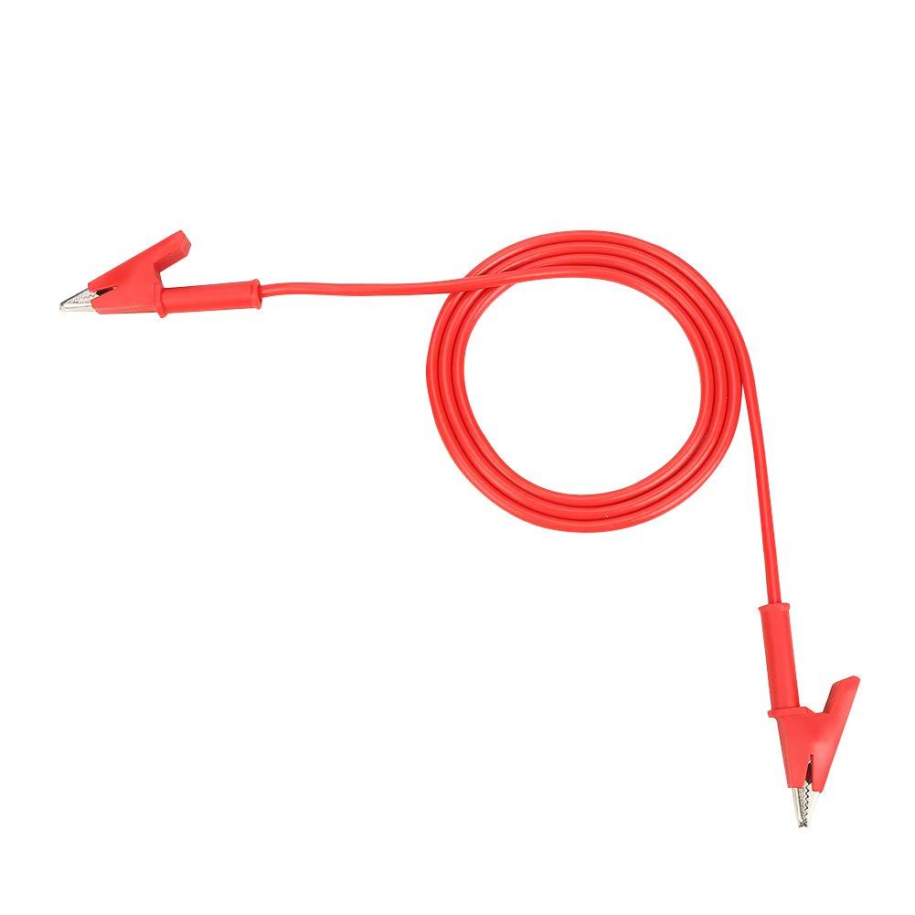 P1024 5 unids Colorido doble extremo de cocodrilo Clips Cable de la sonda de prueba Cable 15A 100cm