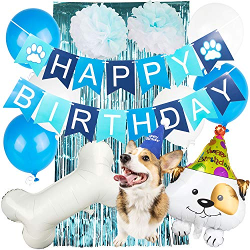 Joeyfrad Dog Birthday Party Supplies - Puppy Themed Balloon -