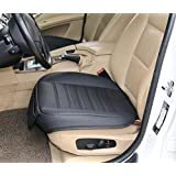 EDEALYN High Quality Front seat protection cover Car Seat Cover Cushion Pad For BMW 1 / 3 / 4 / 5 Series & VW Golf Audi A4 & Toyota Corolla Rav4 &Honda Odyssey Accord CR V Civic ,1pcs front seat cover (M, Black)