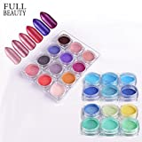 POYING Full Beauty 24 Boxes Shimmer Nail Art Powder Charm Thin Glitter Pigment Dust Set Pink Decoration For Nails Tools Manicure CHBJ