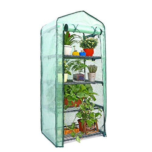 Mini Greenhouse Cover Replacement 4 Tier, PE Tier Home Plant Greenhouse Tent Outdoor Plastic(Without Iron Stand) by PROKTH (Image #6)