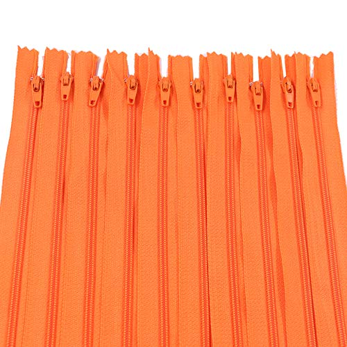 Renashed 60Pcs 12Inch Nylon Coil Zippers for Tailor Sewer Sewing Craft Crafter's Specia (Orange)