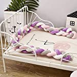 Baby-Braided-Crib-Bumper-Knotted-Bumper-Plush-Toodle-Bed-Protective-Nursery-Decor-Bedding-Cushion-for-ToddlerNewborn-866inch-Long-B