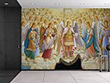 wall26 Fresco from Saint Michael's Cathedral in Kiev, Ukraine - Religious Christian Wall Art - Herald Angels Catholic - Wall Mural, Removable Sticker, Home Decor - 100x144 inches