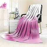 vanfan Blanket Comfort Warmth Soft Decor Futuristic Sketch Wedding Dress Steam Expansion Vogue Artprint Fuchsia,Silky Soft,Anti-Static,2 Ply Thick Blanket. (90''x90'')