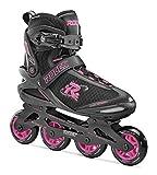 Roces 400796 Women's Model Pic Art Inline Skate, US 7W, Black/Pink