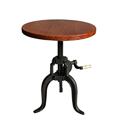 Amazon.com: Industrial Bar Table Kitchen Coffee Swivel Table ...