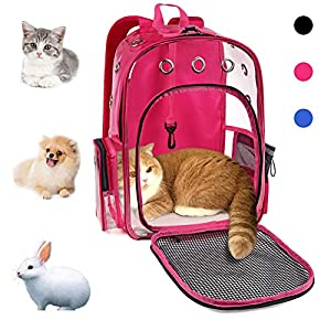 YUDODO Cat Backpack Carrier Clear Small Pet Cat Dog Carrier Front Backpack for Cat Rabbit Small Animal Breathable Mesh…