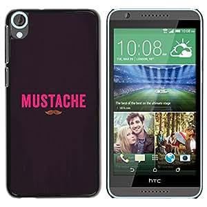 iKiki Tech / Estuche rígido - Handlebar Hipster Gentleman - HTC Desire 820