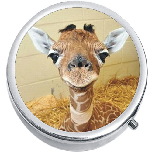 Baby Giraffe Medicine Vitamin Compact Pill Box