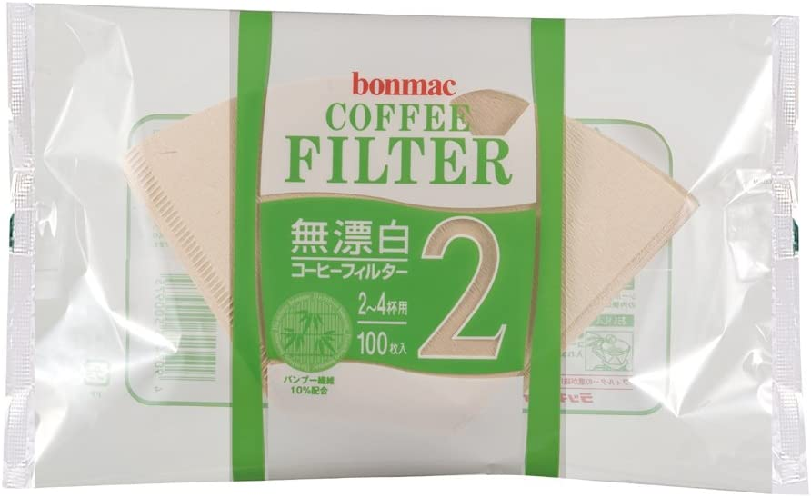 [2-4] bonmac cups unbleached bamboo blended filter CF-200BAM 100 sheets x 10 pack # 858512 (japan import) 51cgN2BEPaUL