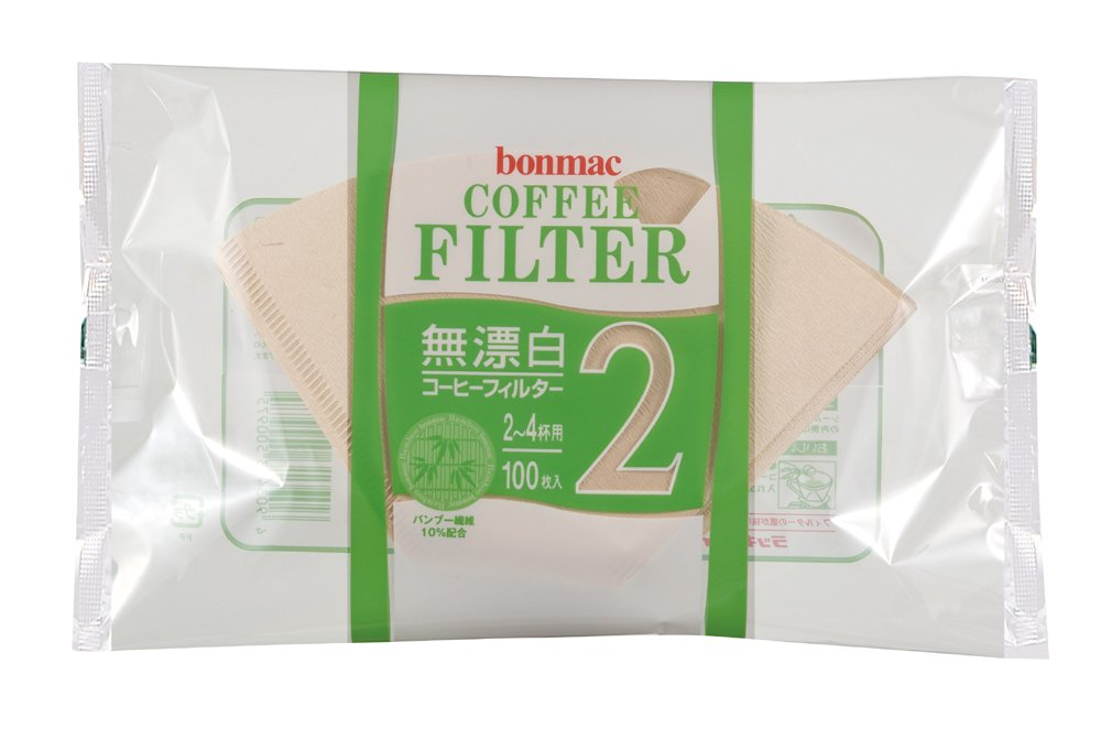 [2-4] bonmac cups unbleached bamboo blended filter CF-200BAM 100 sheets x 10 pack # 858512 (japan import) by bonmac