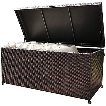 Amazon Com 64 Quot Large Resin Wicker Black Storage Box