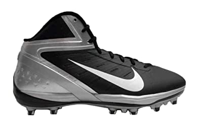 innovative design 6ccbf f3e1e Image Unavailable. Image not available for. Color  Nike Zoom Alpha Talon  Elite 3 4 TD Men s Black-Silver Football Cleats 10.5