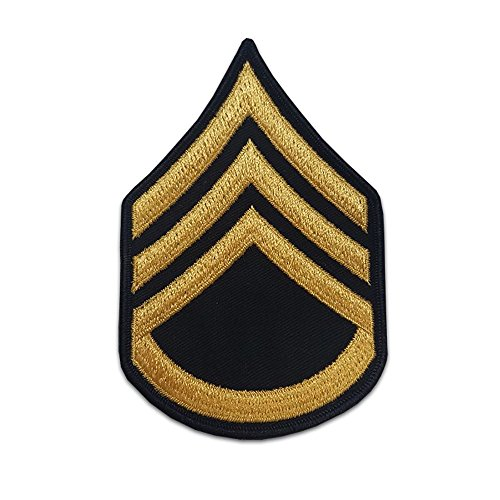 Military Sergeant Rank (US Army Male Rank Gold On Blue Chevrons - Staff Sergeant)