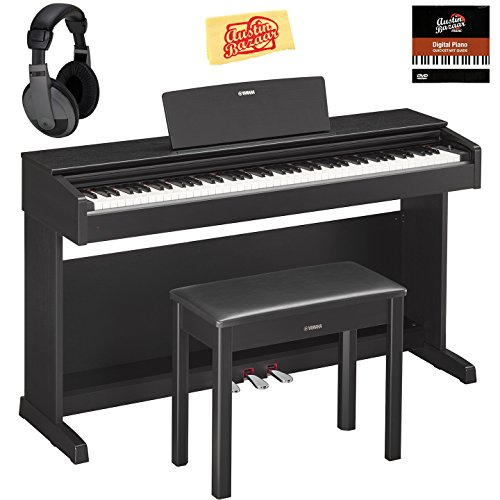 Yamaha YDP-143B Arius Console Digital Piano - Black Bundle w