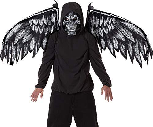 California Costumes Unisex-Adult's Fallen Angel Mask & Wings,