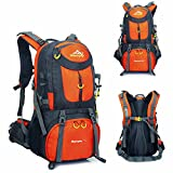Saffbei Hiking Backpack 50L Extra Large Lightweight Foldable Outdoor Camping Travel Waterproof nylon Backpack/Rucksack