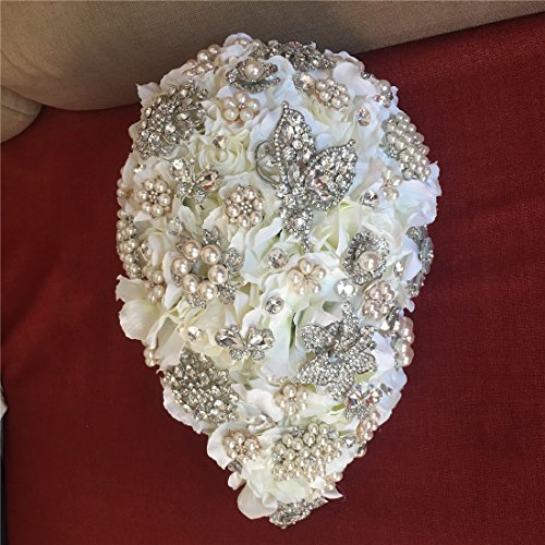 Luxurious-Bouquet-of-flowers-for-wedding-Romantic-Rose-Flower-shiny-covered-diamond-wedding-bouquet-brooches-flower-pearl-holding-bouquet-for-Bridesmaids-bride