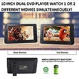 "Milanix 10"" Portable Dual Screen DVD Player System"