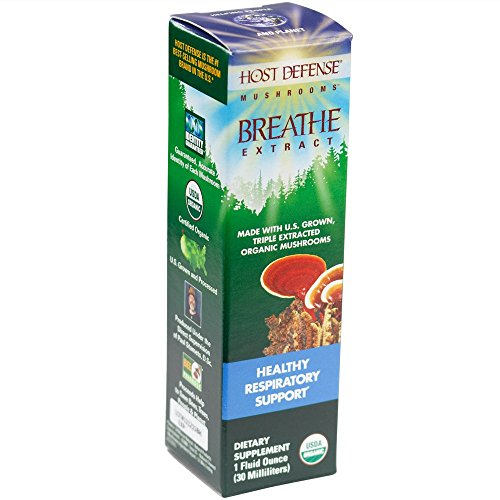 Host Defense - Breathe Extract, Healthy Respiratory Support, 30 Servings (1 oz) (Defense Extract)