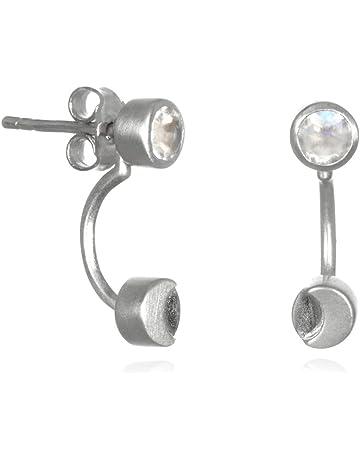 145fae705 Satya Jewelry Moonstone Sterling Silver Moon Phase Jacket Earrings