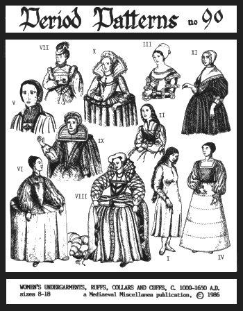 Osha Game Of Thrones Costume (Women's Undergarments, Ruffs, Collars & Cuffs Pattern)