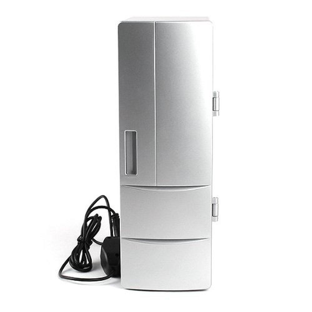 JXHD USB mini fridge & Warmer, Portable USB Beer Beverage Drink Cans Fridge Cans Cooler Warmer for Cold/Hot Beverage Drinks