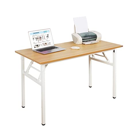 SogesHome Mesa de Escritorio Plegable para computadora 120 x 60 x 75 cm Escritorio para computadora Escritorio de Oficina Mesa de Escritura, Mesa de ...