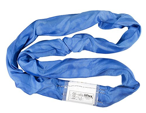 18000 lbs Vertical Load Capacity Mazzella Supertechlon Polyester Round Sling 16 Length Endless 2 1//8 Width Brown